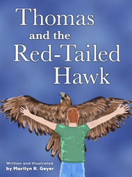 Thomas and the Red-Tailed Hawk book cover - A spiritual journey